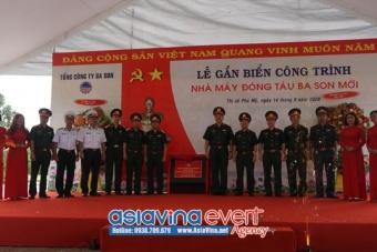 Lễ Gắn biển công trình nhà máy đóng tàu Ba Son mới chào mừng 75 năm Ngày truyền thống Tổng cục CNQP